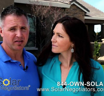 Solar Negotiators Clients Assist in T.V. Commercial